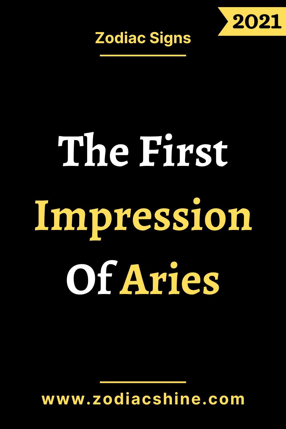 The First Impression Of Aries