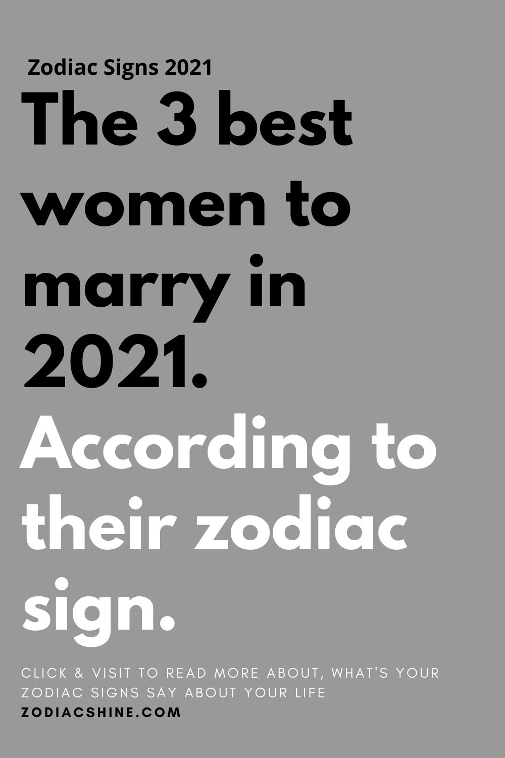 The 3 best women to marry in 2021. According to their zodiac sign.
