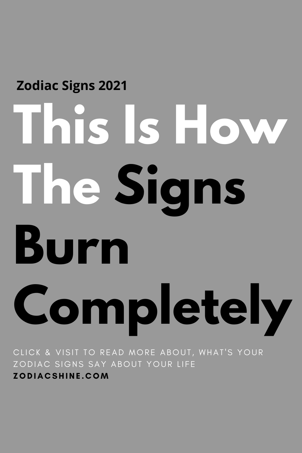 This Is How The Signs Burn Completely