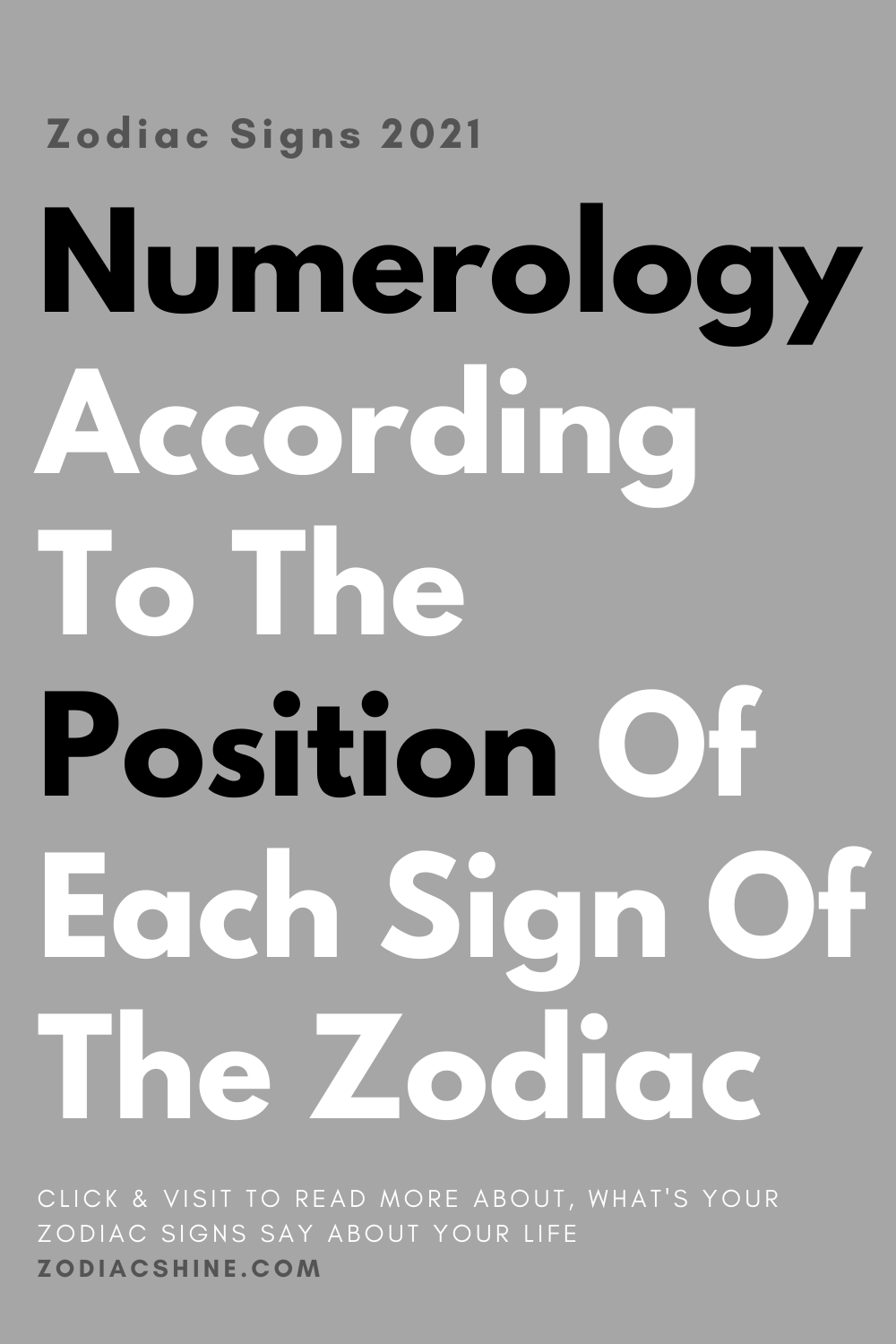 Numerology According To The Position Of Each Sign Of The Zodiac