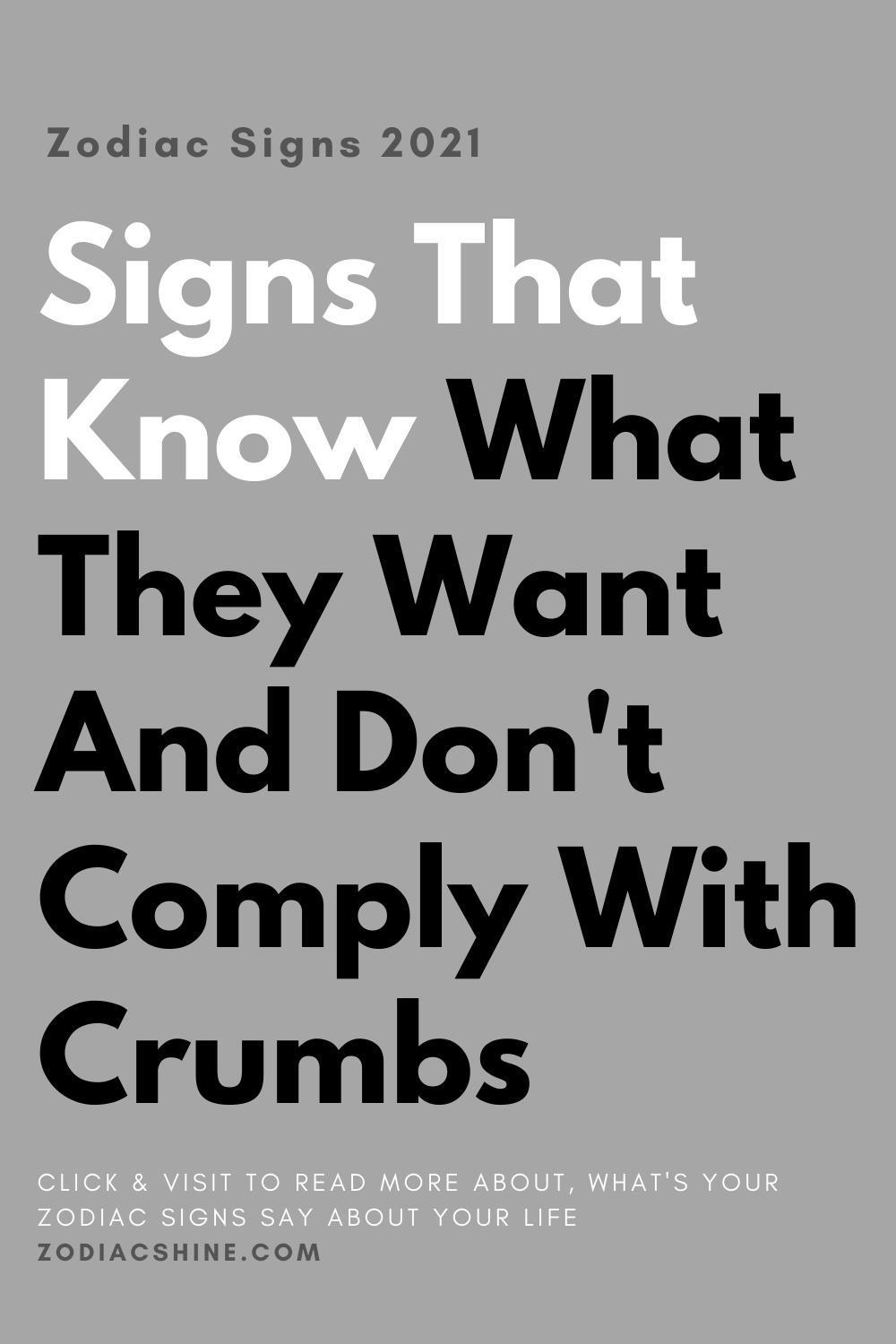 Signs That Know What They Want And Don't Comply With Crumbs