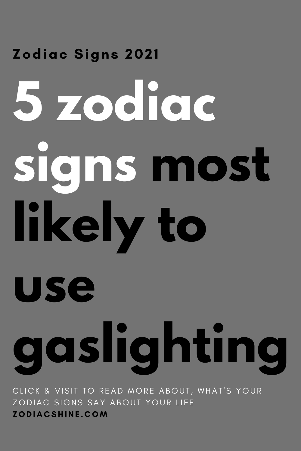 5 zodiac signs most likely to use gaslighting