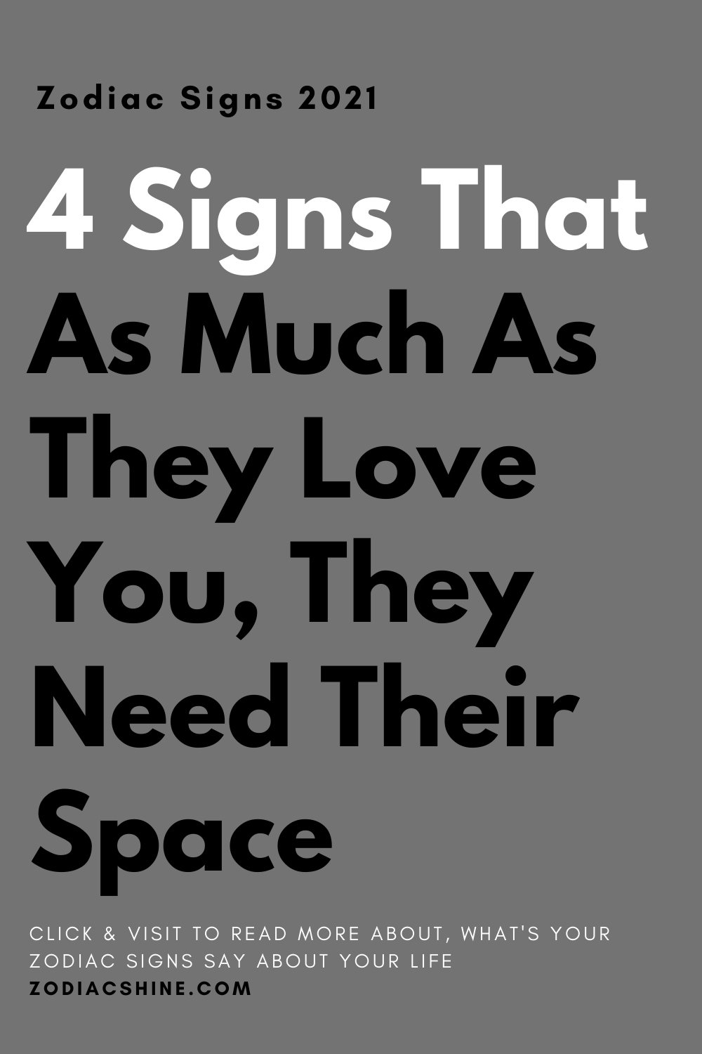4 Signs That As Much As They Love You, They Need Their Space