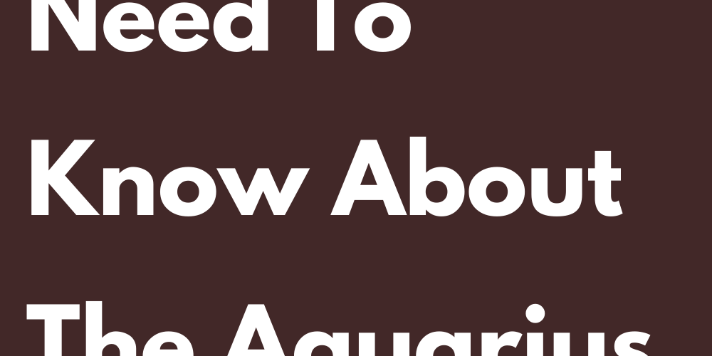 10 Things You Need To Know About The Aquarius Of Your Life
