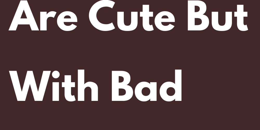 Signs That Are Cute But With Bad Character