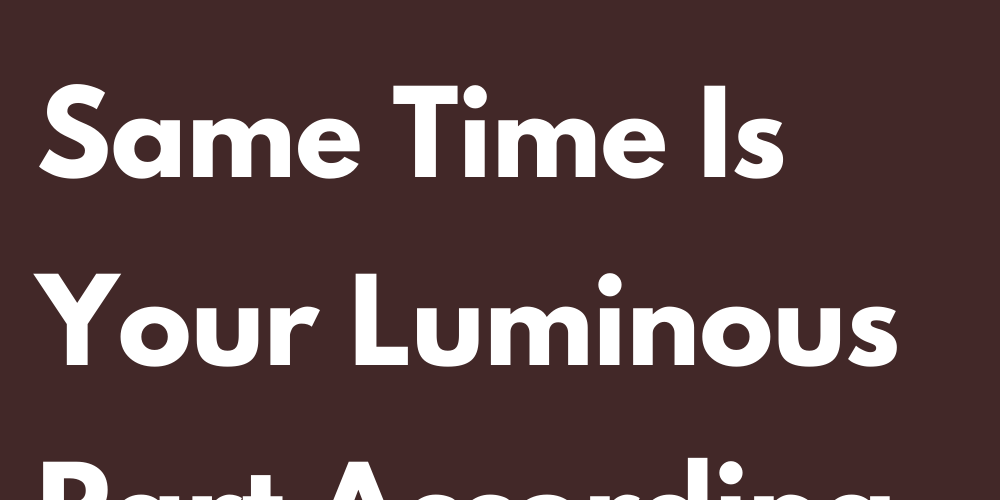 Your Dark Part That At The Same Time Is Your Luminous Part According To Your Sign