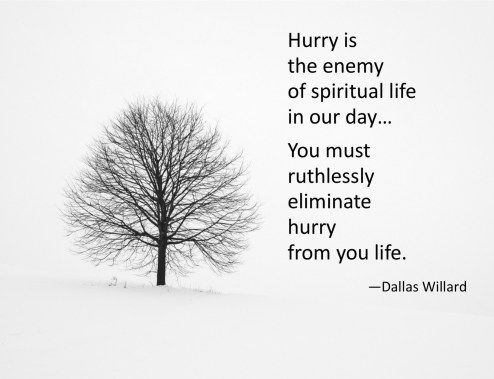 hurry is enemy of spiritual