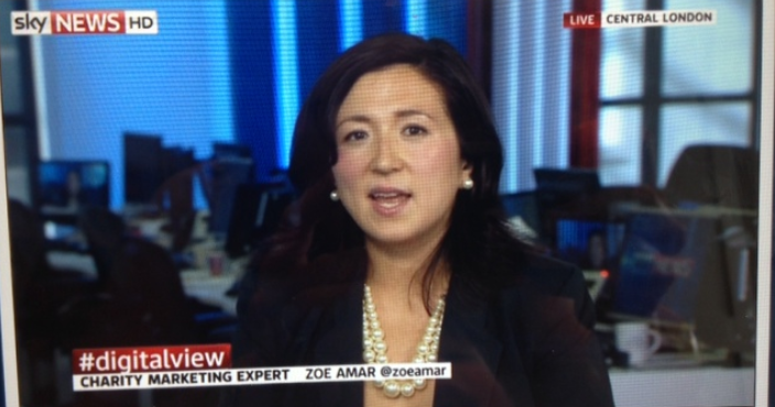 An image of Zoe Amar on Sky News