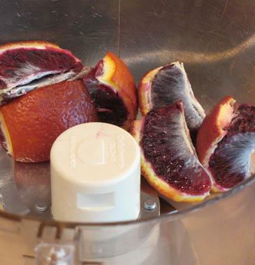 Blood Orange Slices in Food Processor | ZoëBakes | Photo by Zoë François