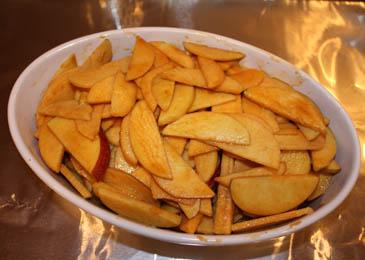 Seasoned Apples in A Baking Dish | ZoëBakes | Photo by Zoë François