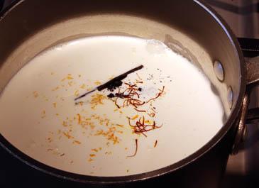 Warm cream with sugar, vanilla, orange and saffron | ZoëBakes | Photo by Zoë François