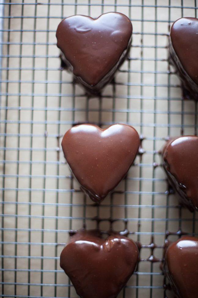 Valentine's Day Chocolate Cake with Raspberry Cream | Photo by Zoë François
