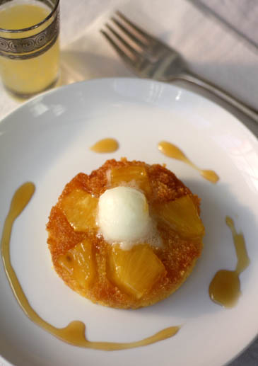 Polenta Pineapple Upside-Down Cake Recipe | ZoëBakes | Photo by Zoë François