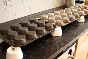 Cooling angel food cake | ZoëBakes | Photo by Zoë François
