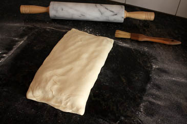 Folding puff pastry dough | ZoëBakes | Photo by Zoë François