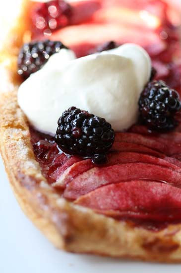 Apple Blossom Berry Tart Recipe | ZoëBakes | Photo by Zoë François