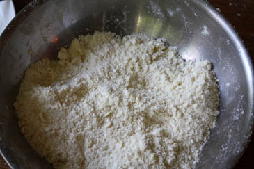 Flour mixture for Bakewell tart | ZoëBakes | Photo by Zoë François