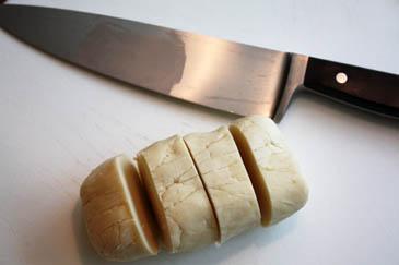 Tart dough cut into sections | ZoëBakes | Photo by Zoë François