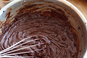 How to make fudge: smooth fudge mixture.