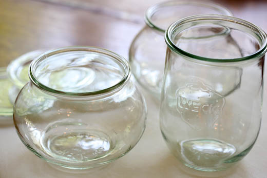 Empty Weck jars | ZoëBakes | Photo by Zoë François