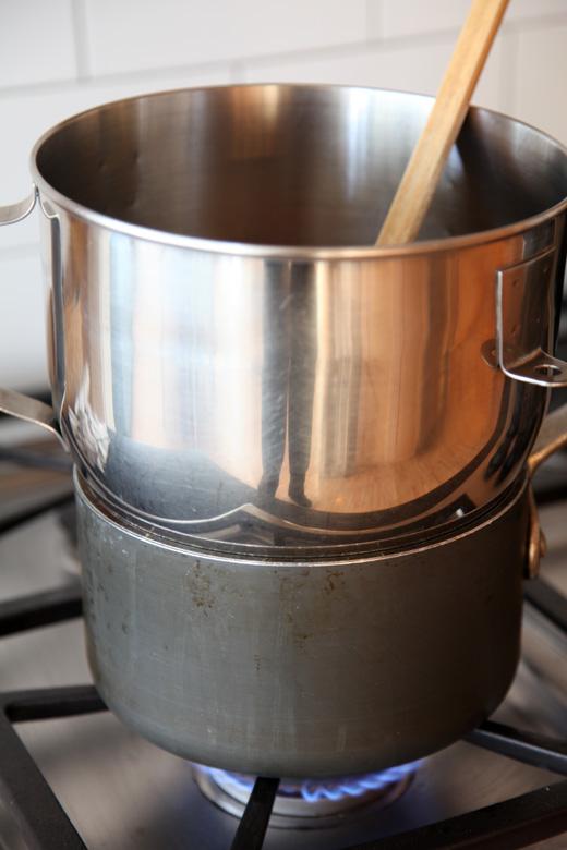 Homemade double boiler