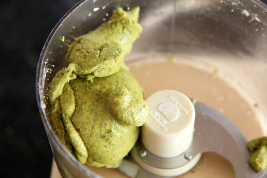 Pistachio powdered combined with egg whites | ZoëBakes | Photo by Zoë François
