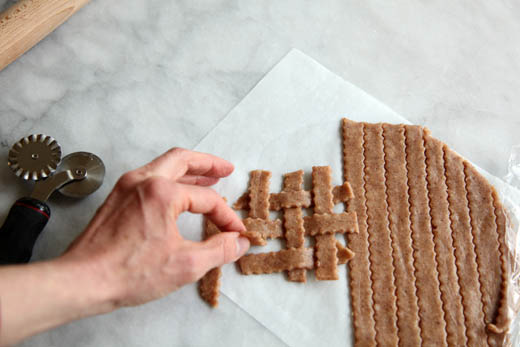 Cut dough for lattice crust | ZoëBakes | Photo by Zoë François