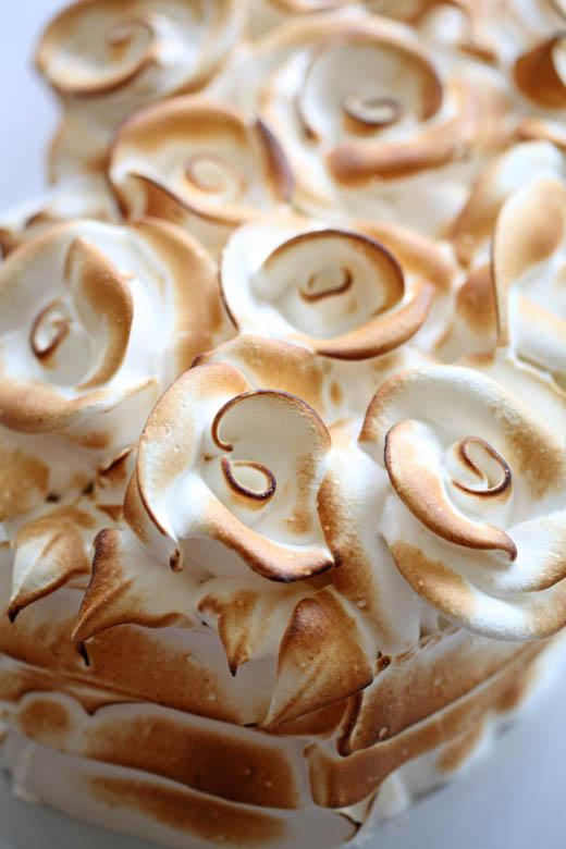 Toasted Meringue Roses | ZoeBakes | Photo by Zoë François