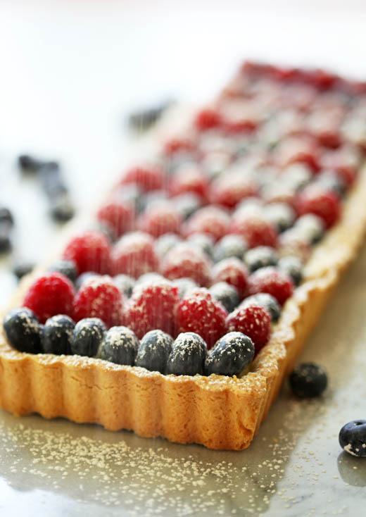White Chocolate Berry Tart Recipe | ZoëBakes | Photo by Zoë François