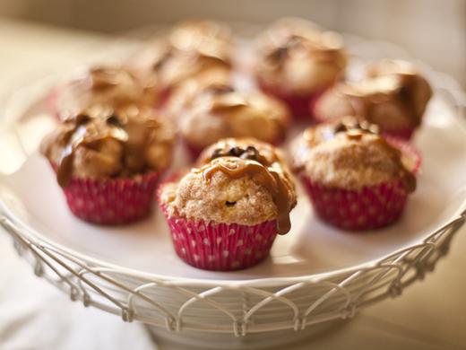 Chocolate caramel monkey muffins | ZoëBakes | Photo by Zoë François