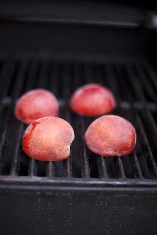 Grilling peaches | ZoëBakes | Photo by Zoë François