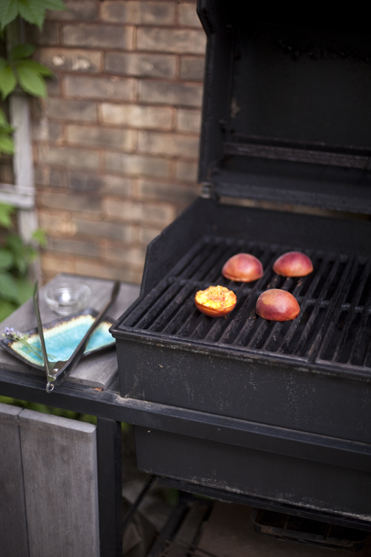 grilled cornbread & peaches zb 10