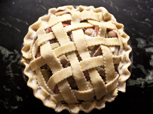 Rhubarb Pie with Lattice Crust Recipe | ZoëBakes | Photo by Zoë François