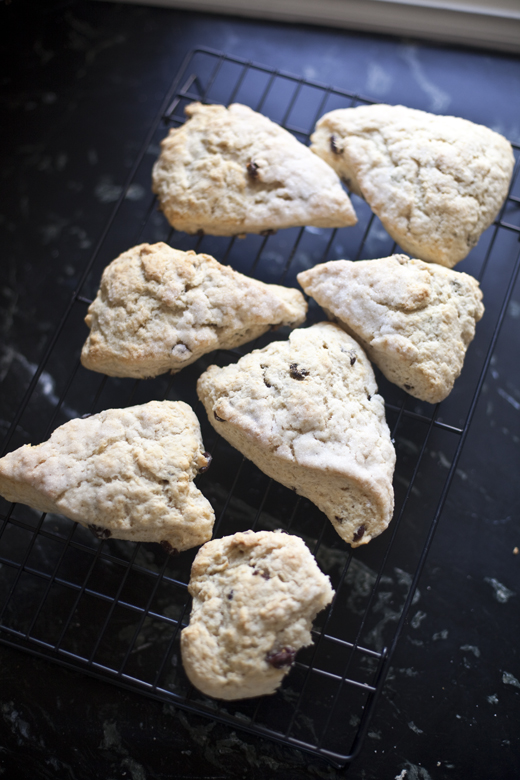 Lemon-Raisin Scones on a Cooling Rack | ZoëBakes | Photo by Zoë François