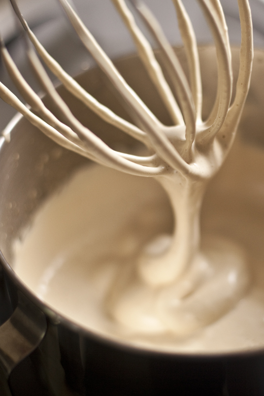 Tiramisu Batter Dripping Off Whisk | photo by Zoë François