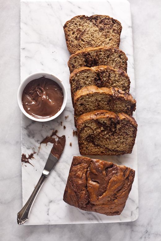 Banana Bread with Swirls of Nutella | ZoeBakes by Zoë François