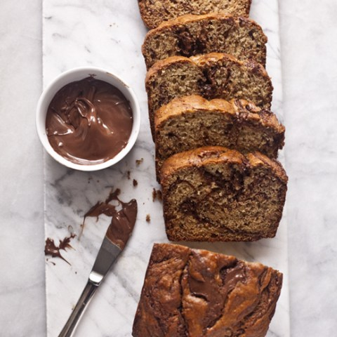 Banana Bread with Swirls of Nutella | ZoeBakes by Zoë François