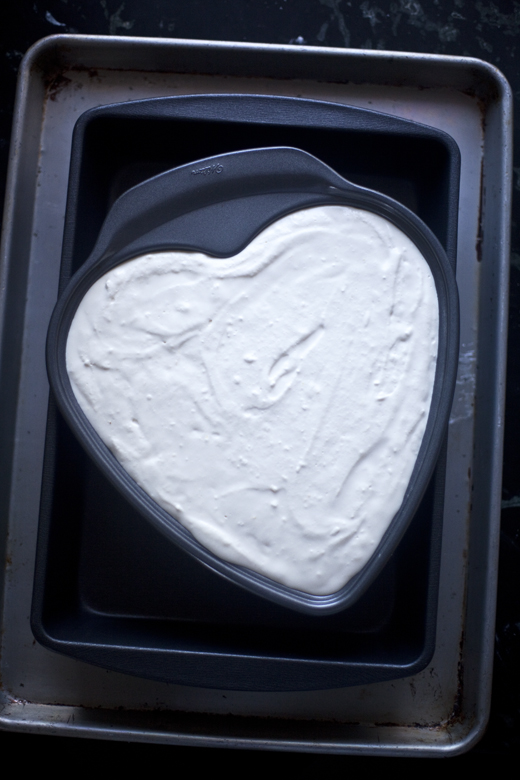 Heart-Shaped Cheesecake in Pan | ZoëBakes | Photo by Zoë François