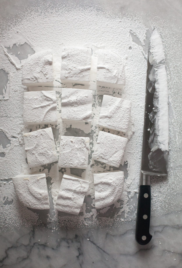 Square marshmallows | how to make homemade marshmallows | photo by Zoë François