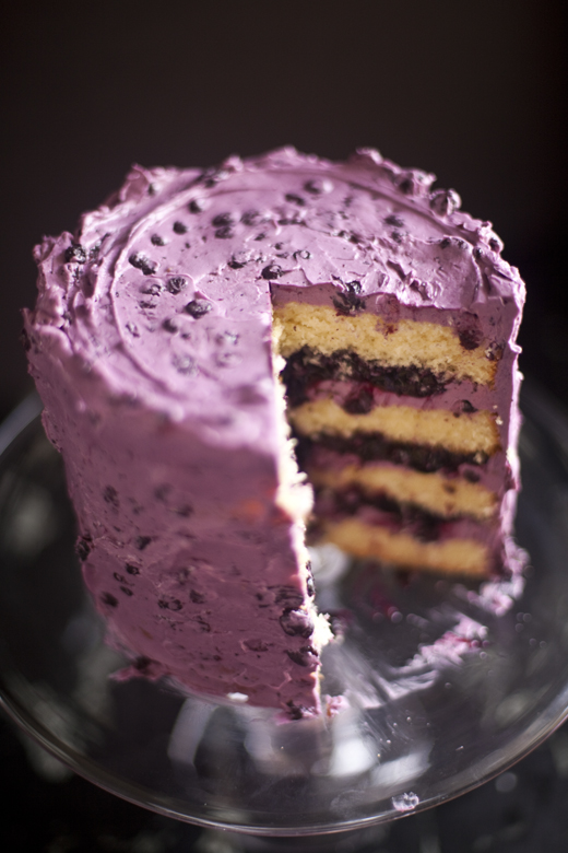 Layered Blueberry Cake recipe | photo by Zoë François