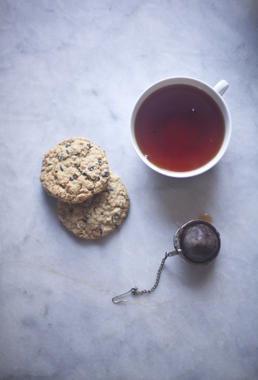 Gluten-free oatmeal cookies and tea | ZoëBakes | Photo by Zoë François