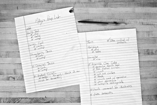 prep list | ZoeBakes