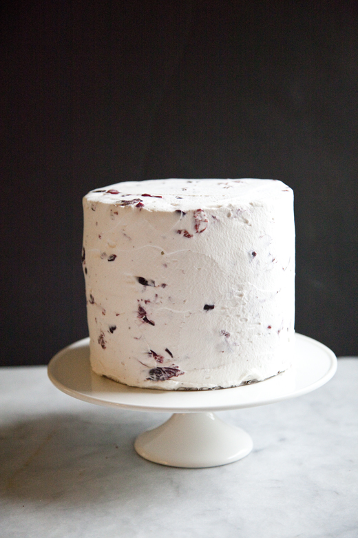 Chocolate Cherry Cake with Marsala Cream | ZoeBakes | Photo by Zoë François