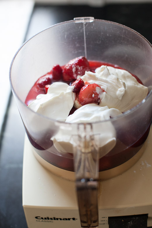 Berries and Sour Cream in a Food Processor | ZoeBakes | Photo by Zoë François