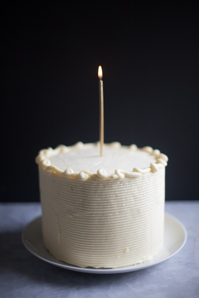 Chocolate birthday cake with cream cheese frosting | photo by Zoë François