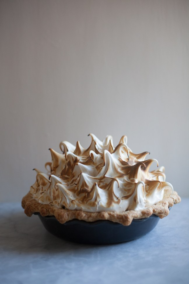 Lemon Honey Meringue Pie | | ZoëBakes | Photo by Zoë François