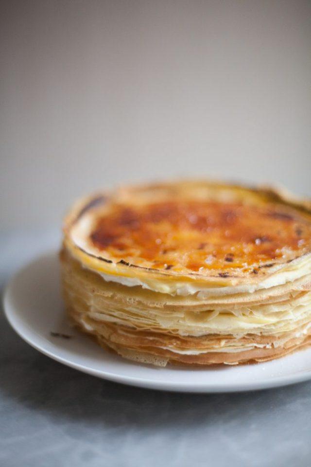 Lemon Mascarpone Crêpe Cake | ZoeBakes by Zoë François