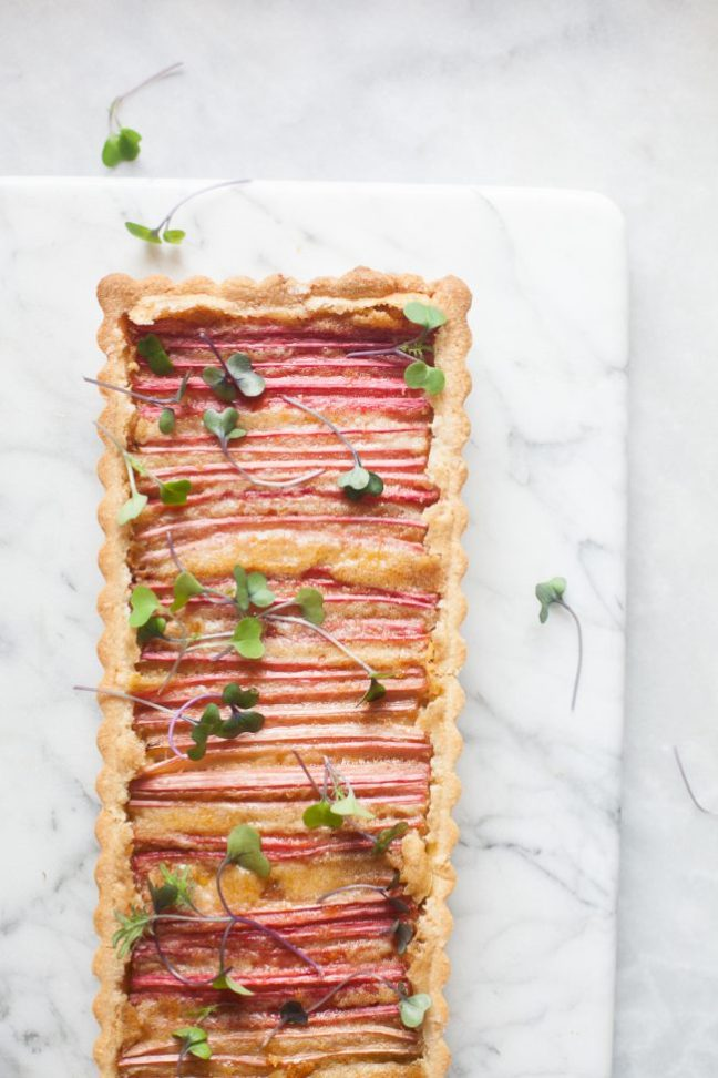 Rhubarb and Brown Butter Tart | photo by Zoë François