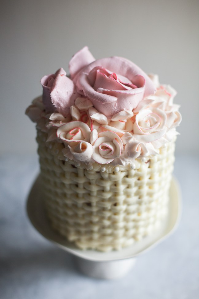 Red Velvet Cake With Basket Weave | ZoëBakes | Photo by Zoë François