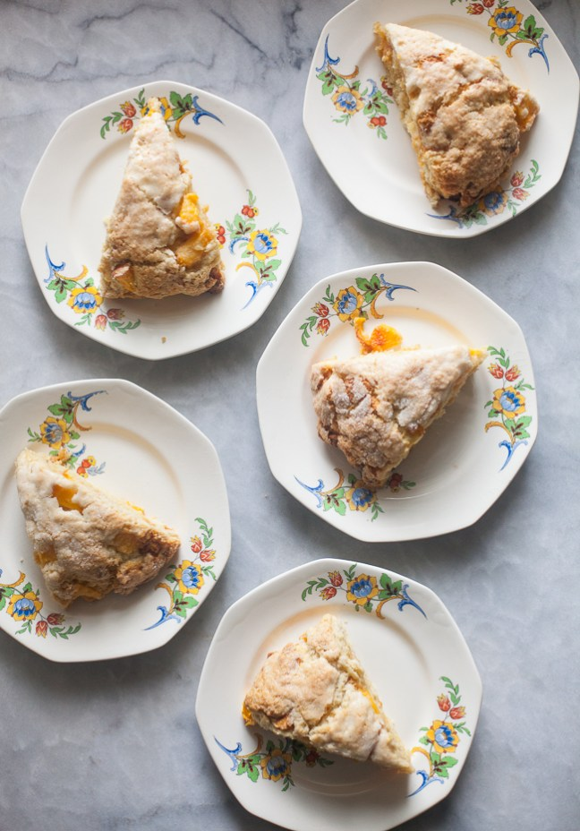 Caramelized White Chocolate Peach Scones from ZoeBakes | Photo by Zoë François